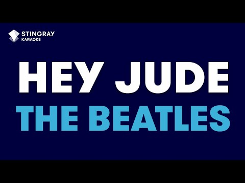 """Hey Jude in the Style of """"The Beatles"""" karaoke video with lyrics (no lead vocal)"""