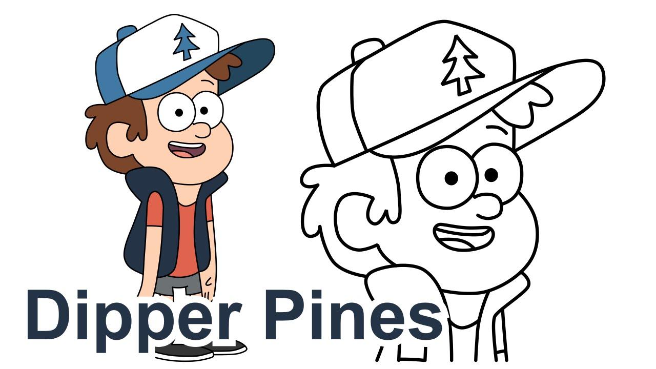 Personajes De Gravity Falls Para Colorear: How To Draw Dipper Pines Gravity Falls Disney