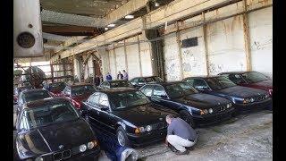 11 новых BMW 5 совсем БЕЗ ПРОБЕГА 1994 г. Нашли в брошенном складе в Болгарии
