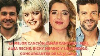 'La Mejor Canción Jamás Cantada': Miki, Alba Reche