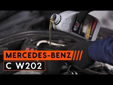 Ölwechsel MERCEDES-BENZ C W202 (wie Motoröl und Ölfilter wechseln)   TUTORIAL AUTODOC