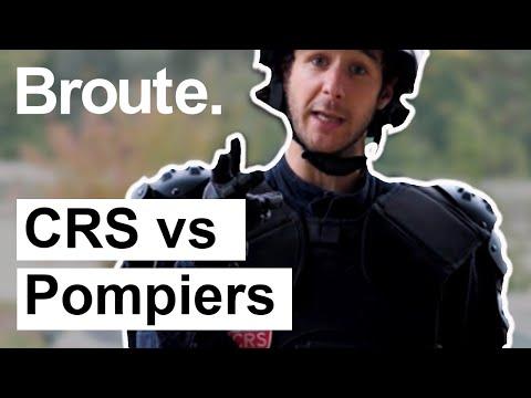 CRS vs Pompiers - Broute