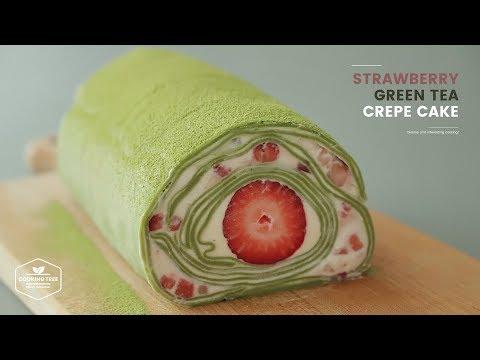 草莓抹茶可麗餅皮卷