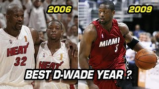 What Year Was Dwyane Wade the Best Version of D Wade?