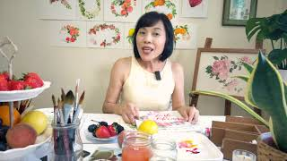 Watercolour Fruit And Floral Wreaths