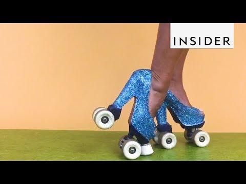 Blinging Roller Skate Heels are for Professionals Only
