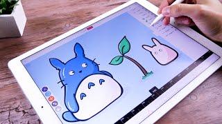 Totoro Animation on iPad Pro with Coreanimator App