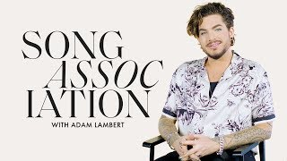 Adam Lambert Sings Aerosmith, Rihanna, And Queen In A Game Of Song Association | ELLE