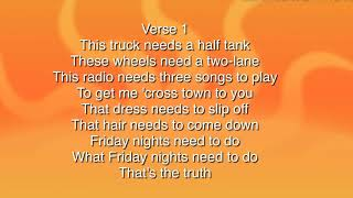 Luke Bryan —knockin Boots Lyrics