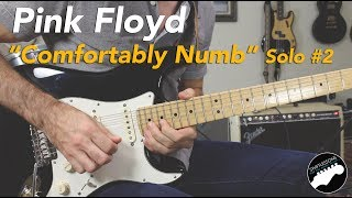 "Pink Floyd ""Comfortably Numb"" 2nd Solo Guitar Lesson 