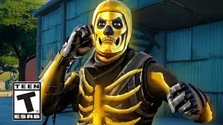 Golden Skull Trooper Arrives in Fortnite Island (Fortnite Golden Skull Trooper Trailer)