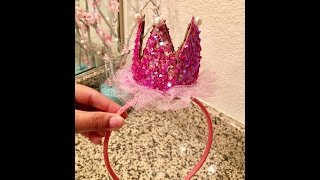How To Make Crown Headband From Cardboard For Birthday Photoshoot || DIY