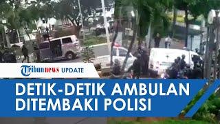 Video Detik-detik Ambulans Kabur hingga Jalan Mundur Ditembaki Gas Air Mata saat Demo UU Cipta Kerja