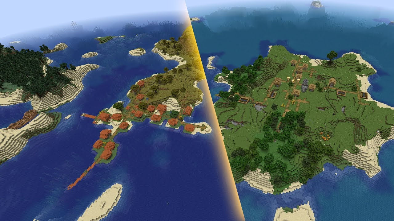 Minecraft 1.15.1 Seed Two big island villages (savanna, plains) MINECRAFT SEED 161651032221945