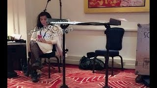 Björk rehearsing prior to her two concerts in Mexico. March, 2017.