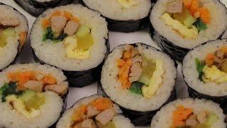 Корейская кухня, Настоящая корейская кухня: Кимба́п (кор. 김밥) - роллы. Как сделать кимпаб