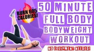 50 Minute Full Body Bodyweight Workout  by Sydney Cummings