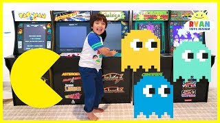 Surprise Ryan with Arcades Machine Pac-Man Galaga and more!!!