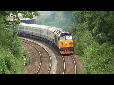 50049 'Defiance' & 50007 'Hercules' climb Torre Bank with 'T…
