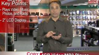Coby 4GB MP3 and Video Player with Touchpad Control - JR.com