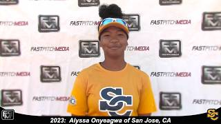 2023 Alyssa Onyeagwa Athletic Third Base and Outfielder Softball Skills Video - Ca Suncats