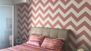 How To Paint Chevron Stripes On A Wall By Skarpato Art - Zig-Zag Wall