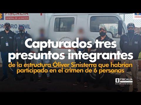 Fiscal Barbosa: Capturados 3 presuntos integrantes de la Óliver Sinisterra