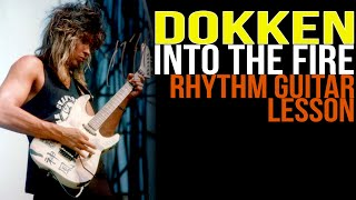 Dokken Into The Fire Rhythm Guitar Lesson, George Lynch - Lynch Lycks S4 Lyck 1