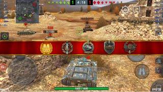 [Wot blitz] T95 M badge gameplay