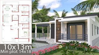 Sketchup Home Design Plan 10x13m With 3 Bedrooms
