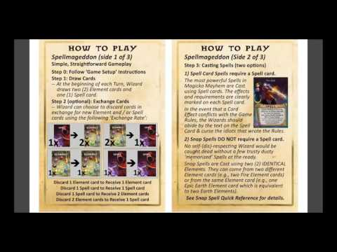 Learn to Play Magicka Mayhem Card Game: Tutorial Video #7 - Simple, Straightforward Rules