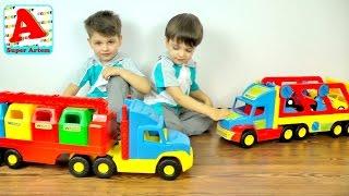 Мультики про машинки Машина Мусоровоз с Манипулятором Вадер Wader Super Truck  Видео для детей