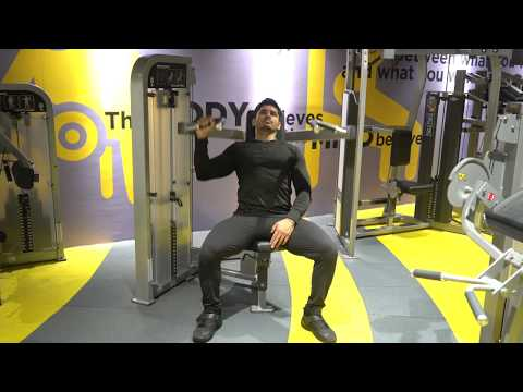 Lever One Arm Shoulder Press (plate loaded)