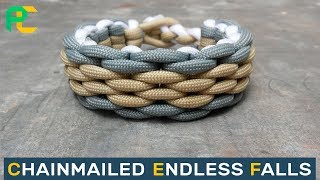 Chainmailed Endless Falls Paracord Bracelet Without Buckle