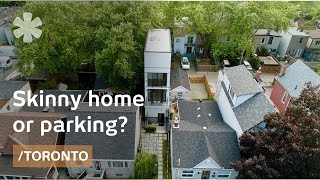Skinny home in Toronto as prototype for parking-space homes?