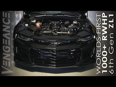 World's First 1,100 HP 2017 Chevrolet Camaro ZL1 Tears Up Dyno on