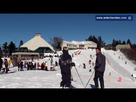 Ski de piste à la Croix de Bauzon