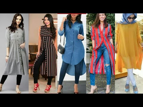 kurti With Jeans //Long Kurti With Jeans //Kurti With Jeans Ideas For Girls 2020