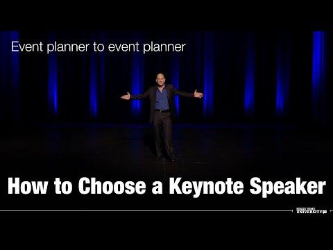 How to Choose a Keynote Speaker