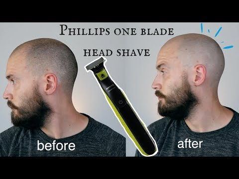 SHAVING MY HEAD – Phillips one blade head shave review *IMPRESSIVE*