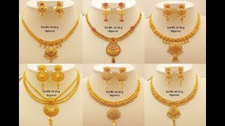 22k Gold Trendy Necklace Designs With Weight    Gold Forever Jewelry Designs    Shridhi Vlog