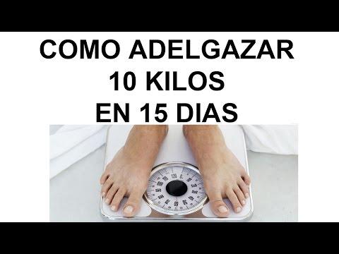 Adelgazar 10 kg en una semana