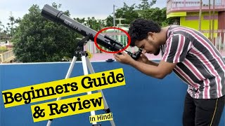 Celestron Powerseeker 70 AZ Detailed Review | Beginners Guide to use Refractor Telescope | in Hindi