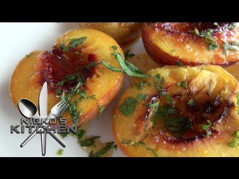 Video GRILLED NECTARINES with SYRUP - Nicko's Kitchen