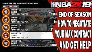 NBA 2K19 How to Negotiate Your Max Contract