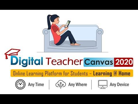 Online learning Platform for Students / Digital Teacher Canvas