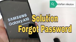 Forgot Password Samsung A10 SM-A105F. Unlock pattern, pin, password lock.