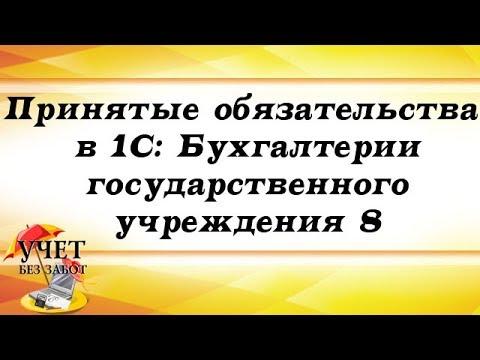 Принятые обязательства в 1С: Бухгалтерии государственного учреждения 8