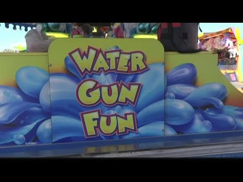 Water gun game gives kids a chance to win prizes