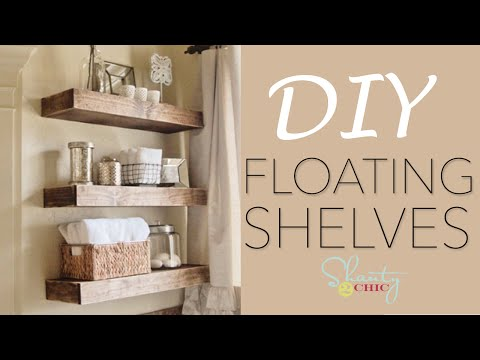 Easy DIY Floating Shelves - How To Make Wood Floating Shelves Mp3